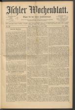 Ischler Wochenblatt 18910614 Seite: 1