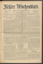 Ischler Wochenblatt 18910719 Seite: 1