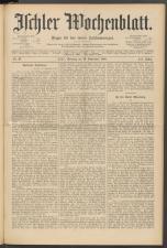 Ischler Wochenblatt 18910913 Seite: 1