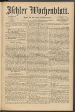 Ischler Wochenblatt 18910920 Seite: 1