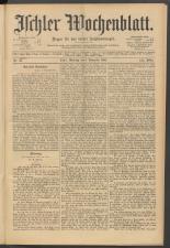 Ischler Wochenblatt 18911108 Seite: 1