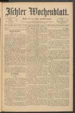 Ischler Wochenblatt 18920117 Seite: 1