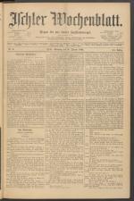 Ischler Wochenblatt 18920131 Seite: 1