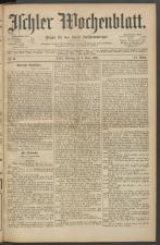 Ischler Wochenblatt 18920306 Seite: 1