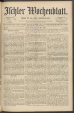 Ischler Wochenblatt 18920529 Seite: 1