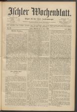 Ischler Wochenblatt 18930611 Seite: 1