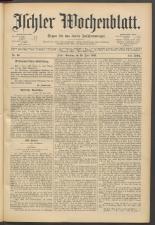 Ischler Wochenblatt 18930625 Seite: 1