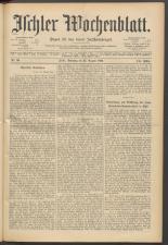 Ischler Wochenblatt 18930827 Seite: 1