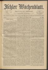 Ischler Wochenblatt 18930910 Seite: 1