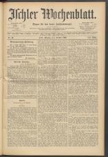 Ischler Wochenblatt 18931001 Seite: 1