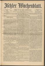 Ischler Wochenblatt 18941111 Seite: 1