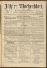 Ischler Wochenblatt 18951222 Seite: 1