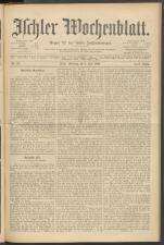 Ischler Wochenblatt 18960705 Seite: 1