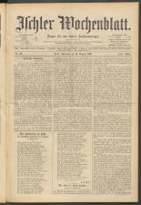 Ischler Wochenblatt 18960815 Seite: 1