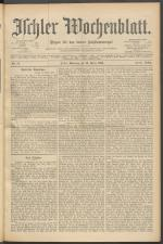 Ischler Wochenblatt 18990312 Seite: 1