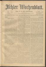 Ischler Wochenblatt 18990813 Seite: 1