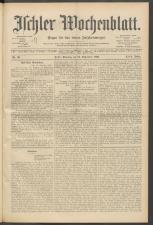 Ischler Wochenblatt 18990924 Seite: 1