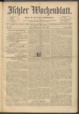 Ischler Wochenblatt 19000401 Seite: 1