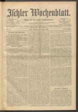 Ischler Wochenblatt 19000408 Seite: 1