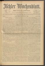 Ischler Wochenblatt 19000923 Seite: 1