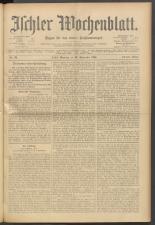Ischler Wochenblatt 19000930 Seite: 1