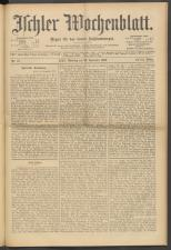 Ischler Wochenblatt 19001125 Seite: 1