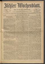Ischler Wochenblatt 19011110 Seite: 1