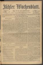 Ischler Wochenblatt 19020720 Seite: 1