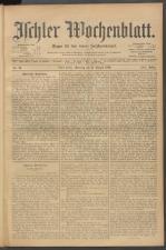 Ischler Wochenblatt 19020831 Seite: 1