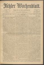 Ischler Wochenblatt 19090425 Seite: 1