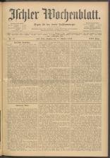 Ischler Wochenblatt 19091017 Seite: 1