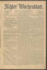 Ischler Wochenblatt 19100109 Seite: 1