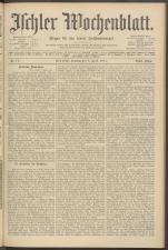 Ischler Wochenblatt 19110409 Seite: 1