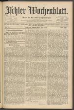 Ischler Wochenblatt 19110702 Seite: 1