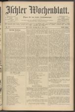 Ischler Wochenblatt 19110709 Seite: 1