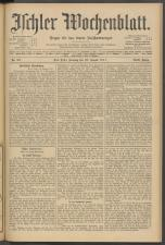 Ischler Wochenblatt 19110820 Seite: 1