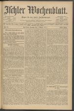 Ischler Wochenblatt 19111001 Seite: 1
