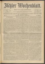 Ischler Wochenblatt 19120804 Seite: 1