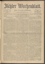 Ischler Wochenblatt 19120811 Seite: 1
