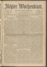 Ischler Wochenblatt 19130420 Seite: 1