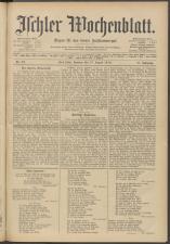 Ischler Wochenblatt 19130817 Seite: 1
