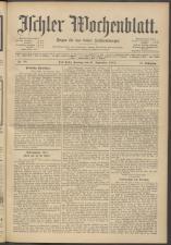 Ischler Wochenblatt 19130921 Seite: 1