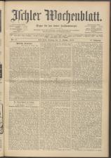 Ischler Wochenblatt 19131012 Seite: 1