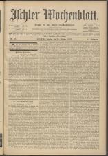 Ischler Wochenblatt 19131026 Seite: 1