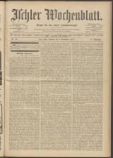 Ischler Wochenblatt 19131109 Seite: 1