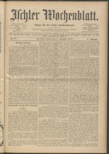 Ischler Wochenblatt 19131115 Seite: 1