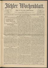 Ischler Wochenblatt 19140531 Seite: 1