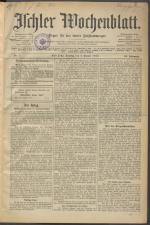 Ischler Wochenblatt 19150103 Seite: 1