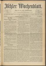 Ischler Wochenblatt 19150919 Seite: 1
