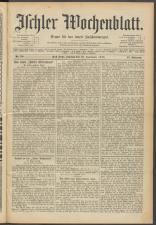 Ischler Wochenblatt 19150926 Seite: 1